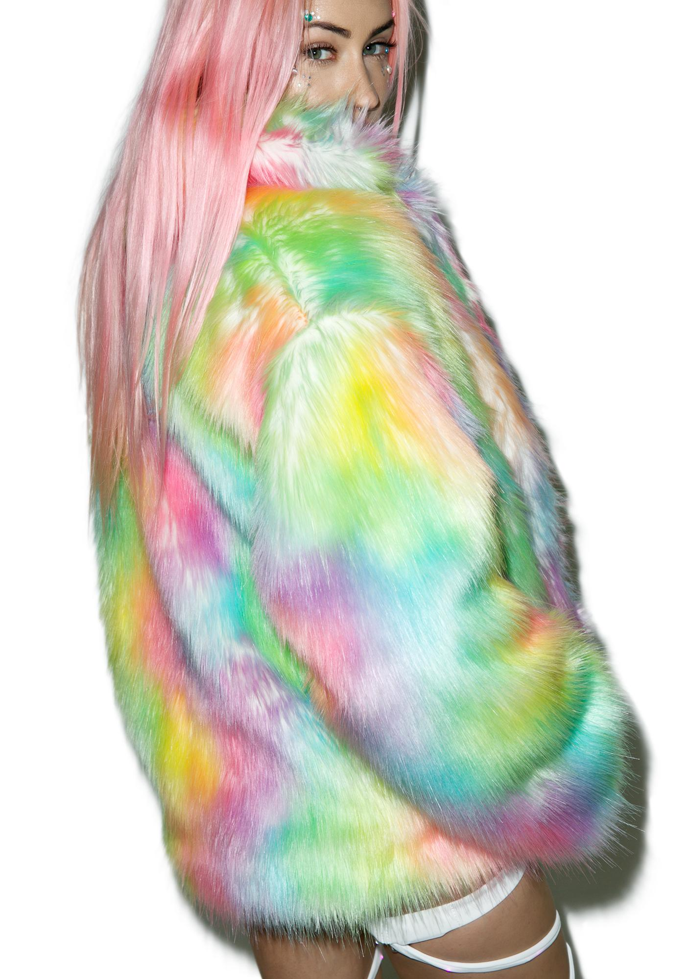 Rainbow Flashing Lights Midi Jacket