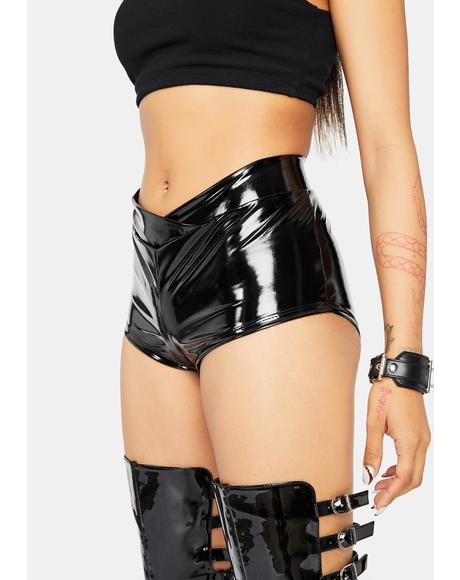 Diva Domination Patent Hot Shorts