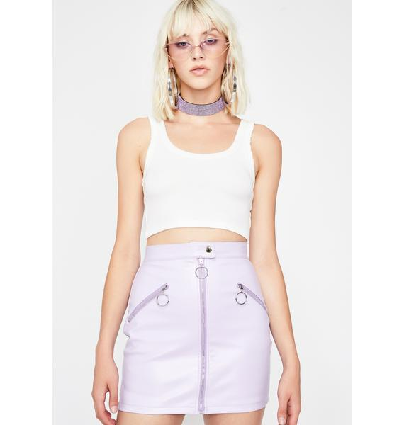Grape Squad Leader Mini Skirt