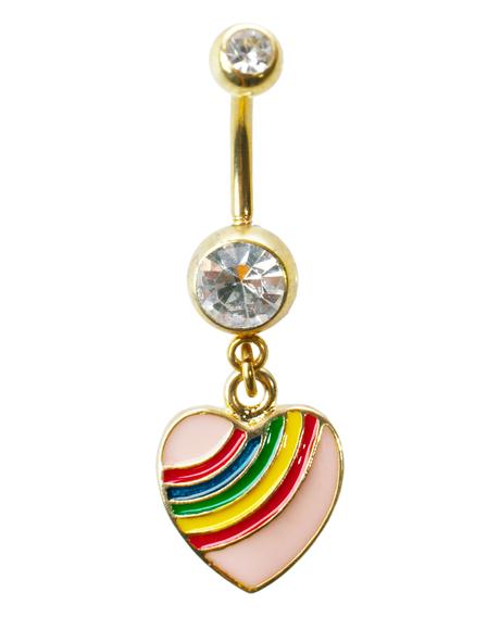 Rainbow Luvin� Belly Ring