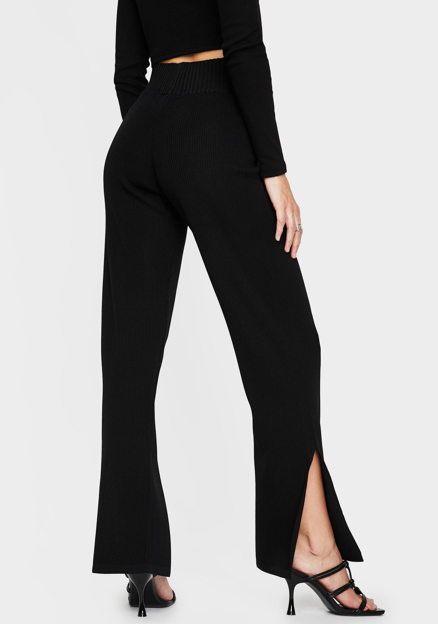 THE KRIPT Black Coya Knit Pants