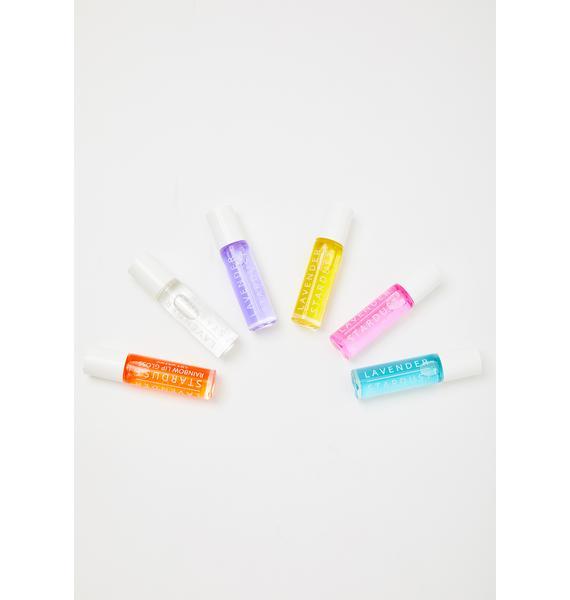 Lavender Stardust Pineapple Rainbow Roll On Lip Gloss
