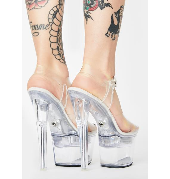 Pleaser Clearly Friends With Benefits Light Up Heels