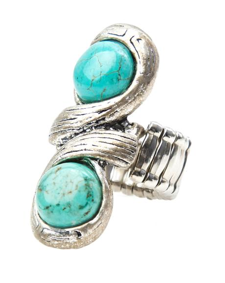 Hot Shot Double Stone Turquoise Ring
