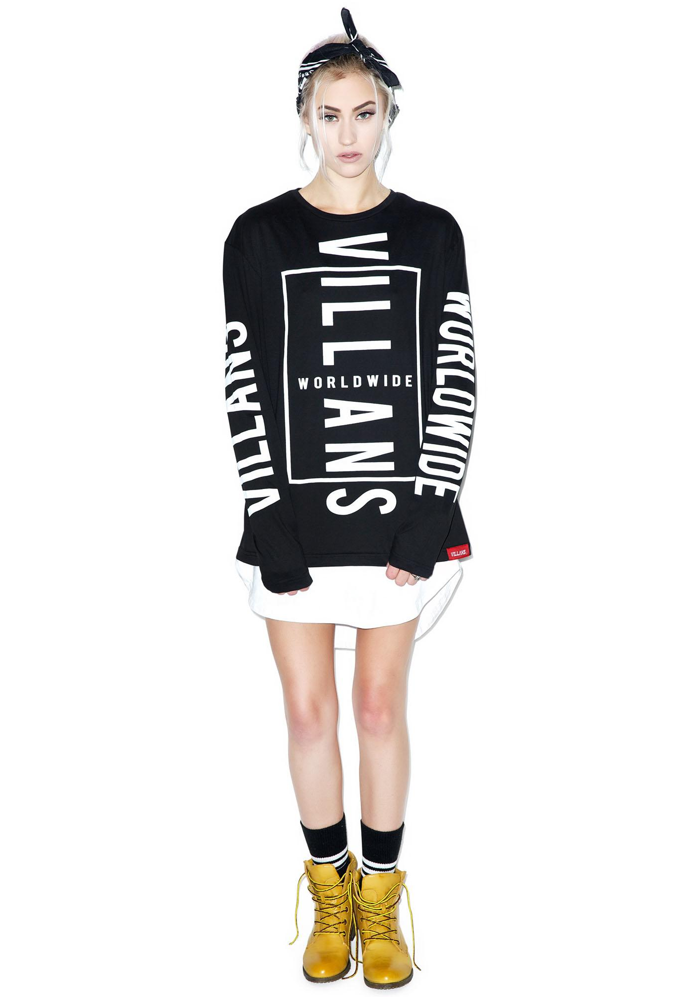 Villans Villans Worldwide Long Sleeve Tee
