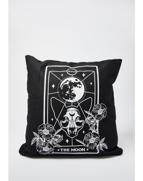 Moon Cat Tarot Card Pillow