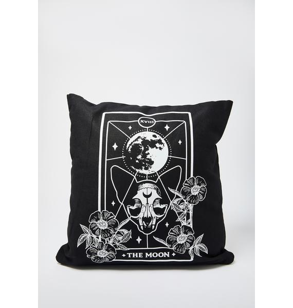 Femfetti Moon Cat Tarot Card Pillow