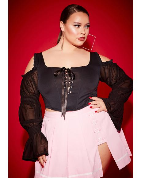 Lil Long List Of Lovers Corset Lace Top