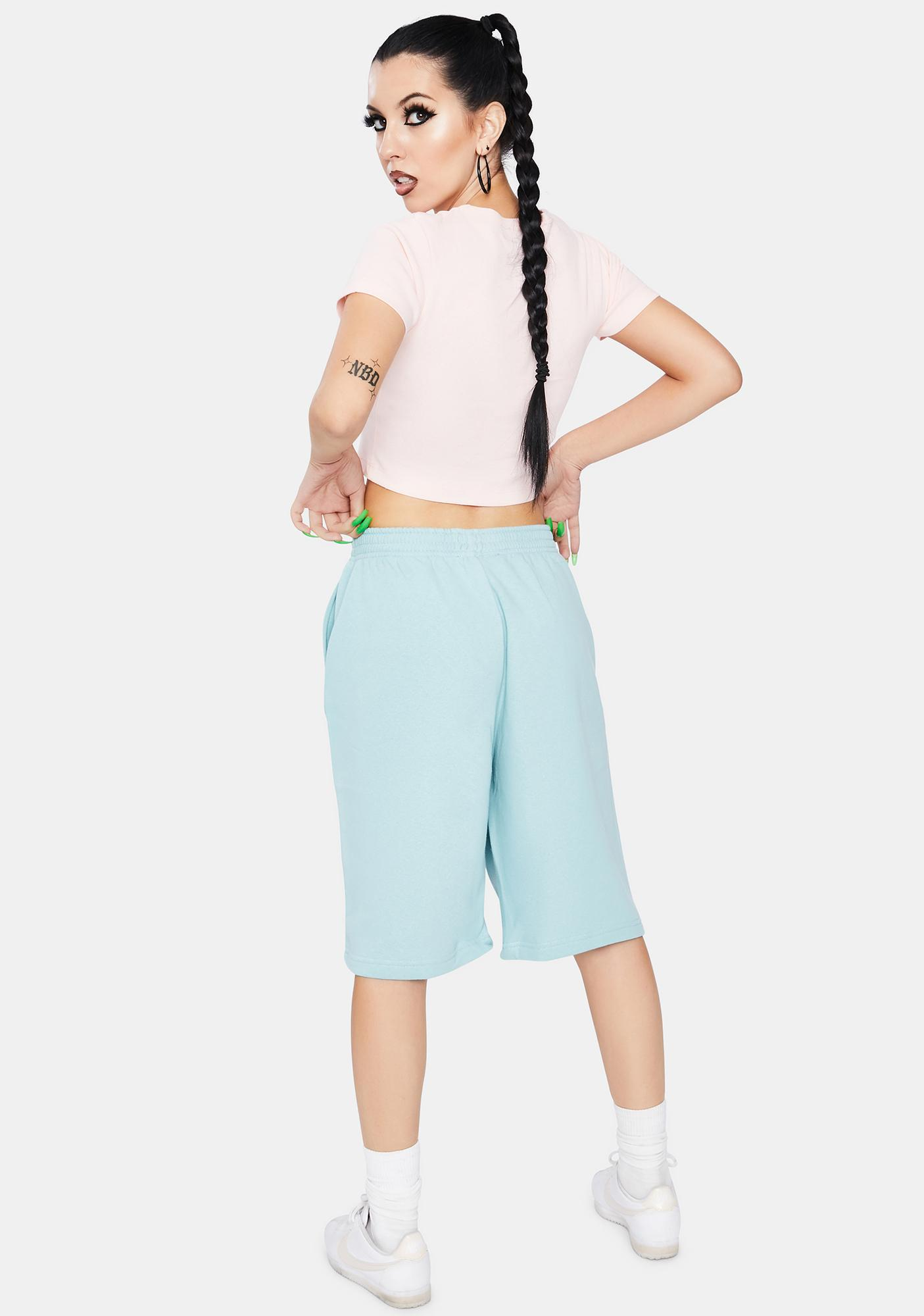 NEW GIRL ORDER Outline Flame Sport Shorts