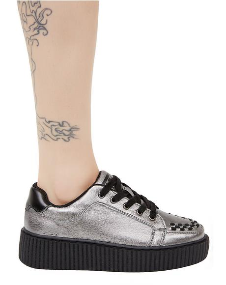 Graphite Leather Casbah Creeper