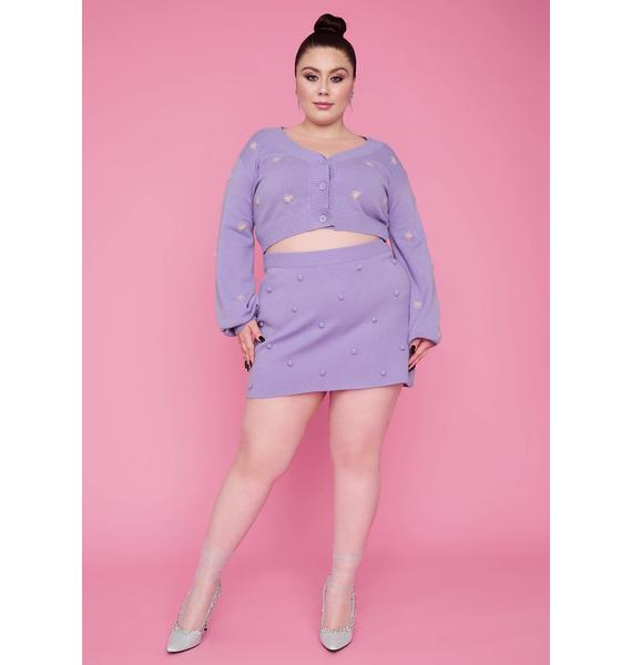Sugar Thrillz Stay After The Show Rosette Crop Cardigan