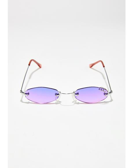 Lilac Clout Queen Pierced Sunglasses