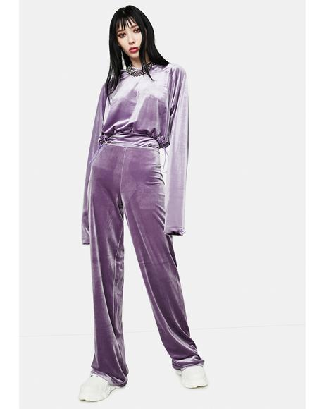 x Masha Tsigal Purple Sports Pants
