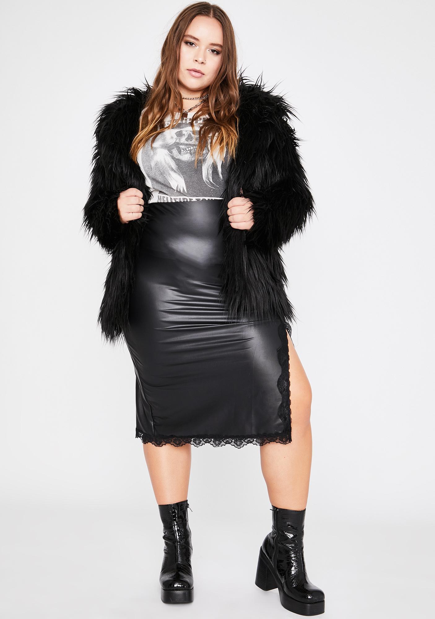 Wicked Legit Ruthless Flirt Midi Skirt