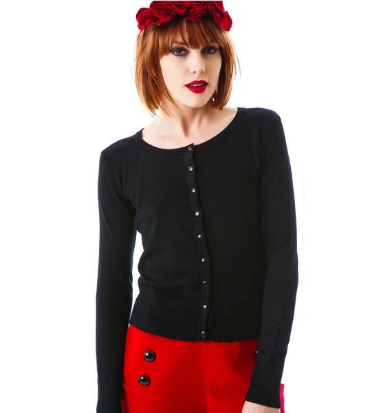 Dark Rose Embroidered Cardigan