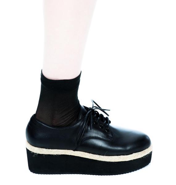 HLZBLZ X Belle Of The Brawl Oxford Platform Shoes