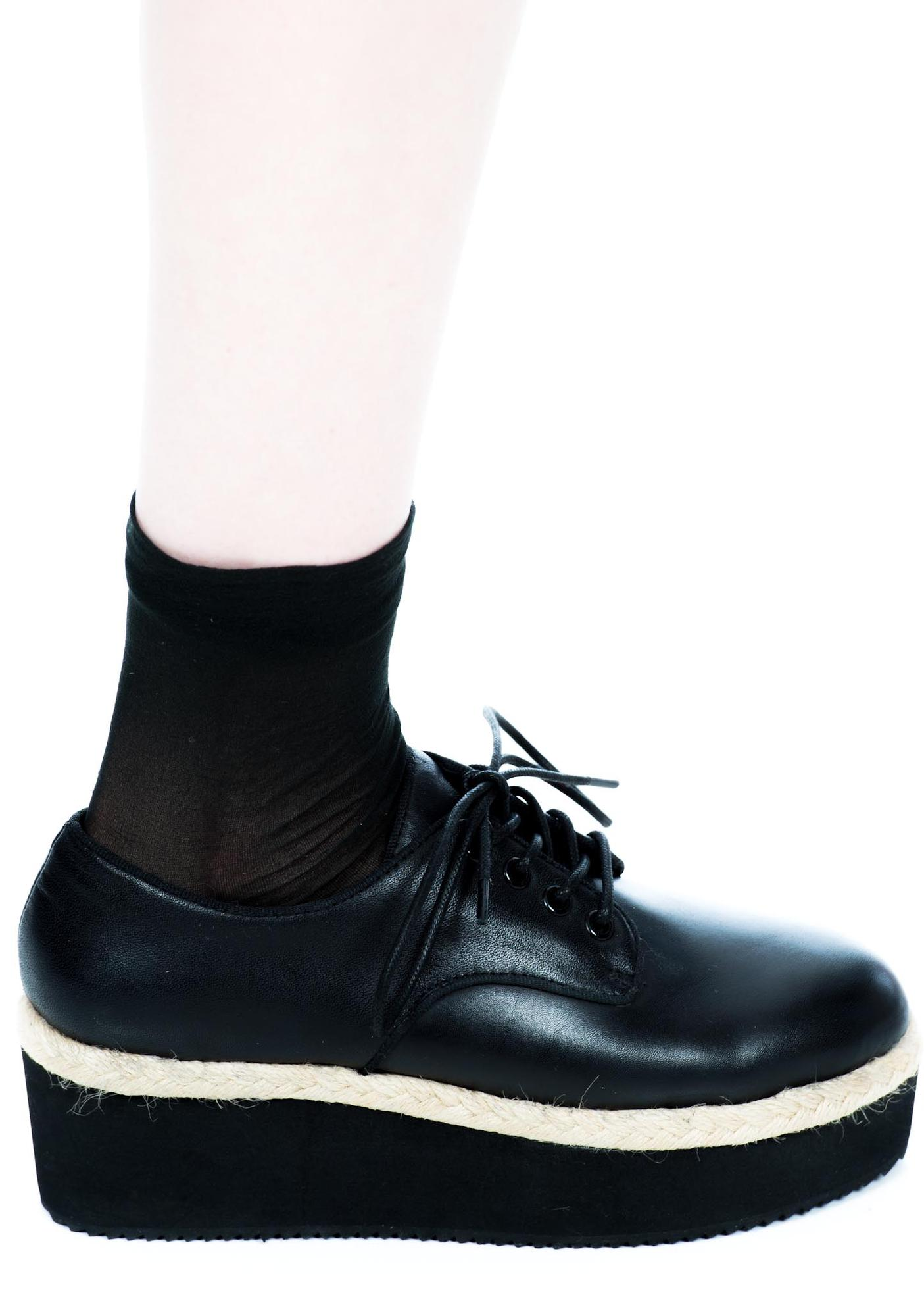 HLZBLZ X Belle Of The Brawl Oxford Platform Shoes