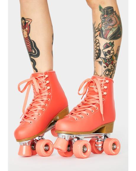 Living Coral Impala Quad Skates