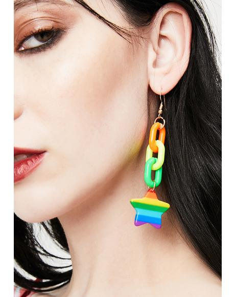 Life In Technicolor Drop Earrings