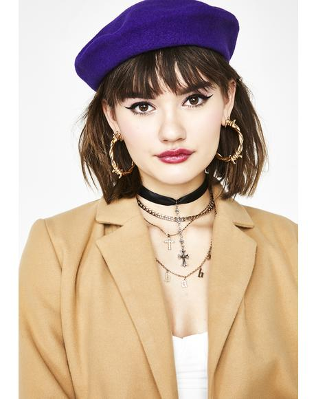 Violet Freak Le Chic Wool Beret
