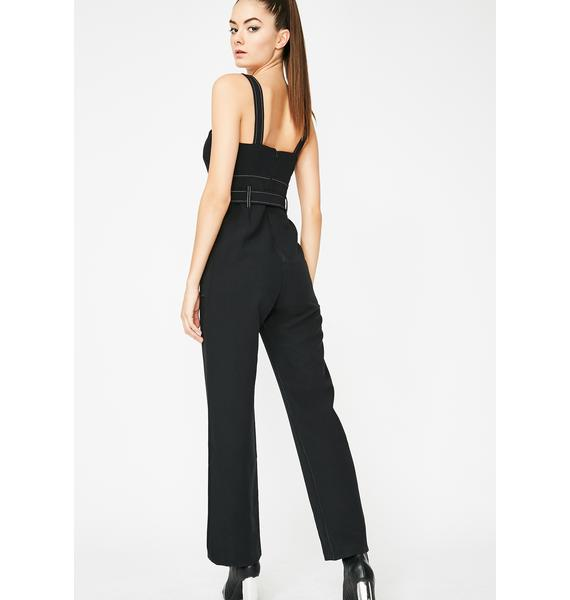 Down For It Belted Jumpsuit