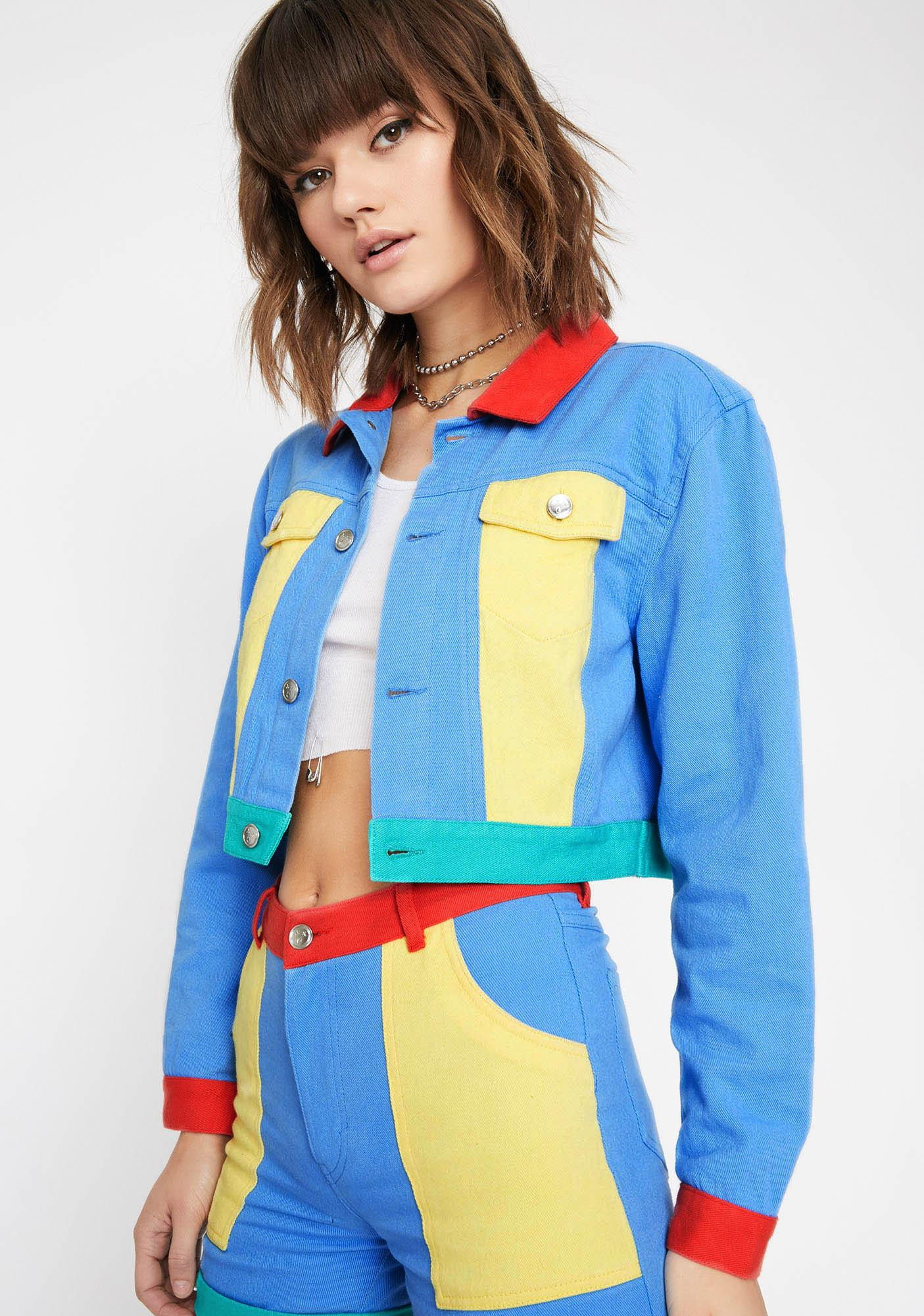Current Mood Primary Instincts Colorblock Jacket