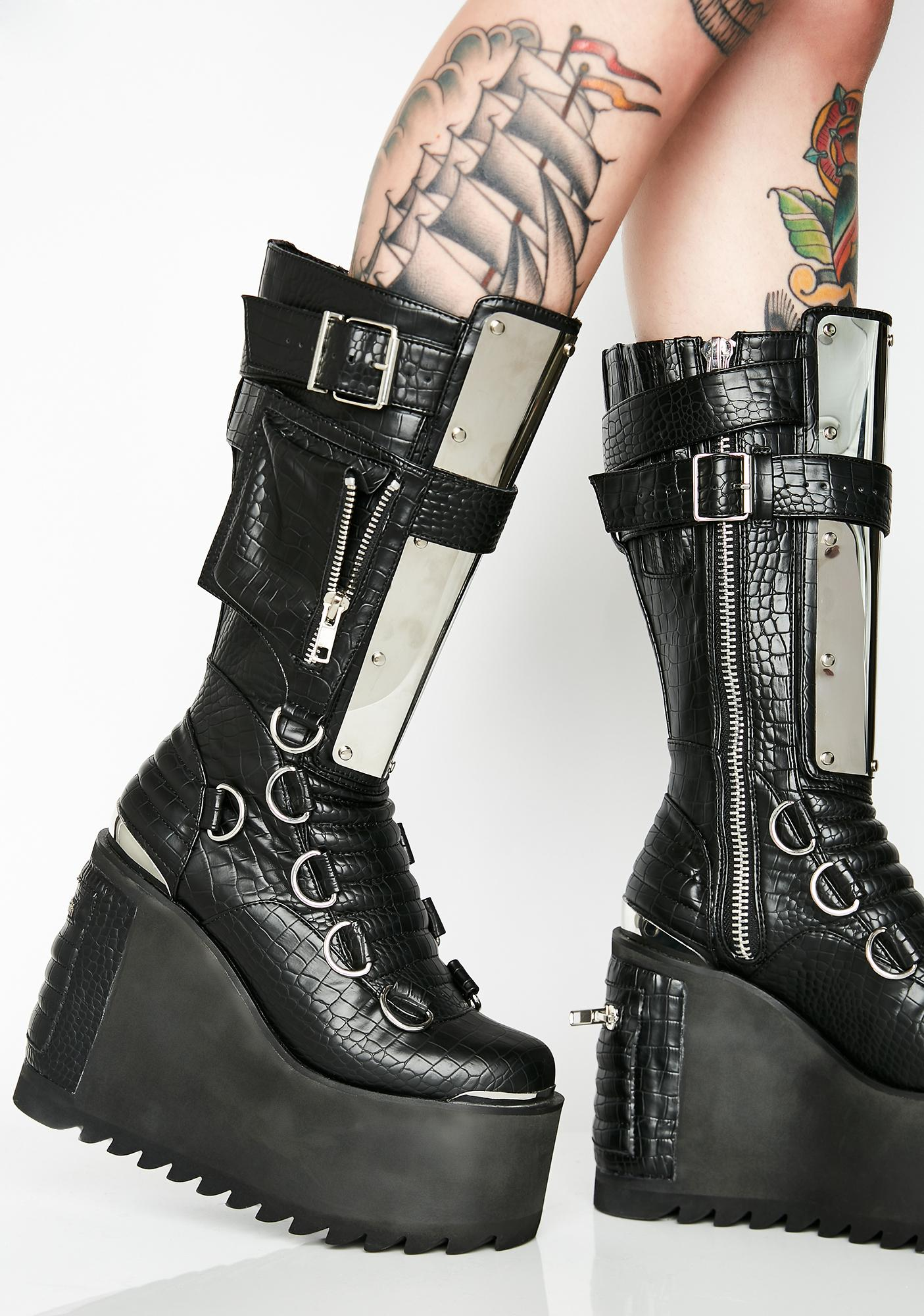 Club Exx Immortal Soul Platform Boots