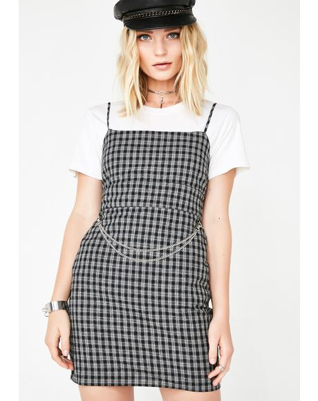 Piece Of Mind Plaid Dress