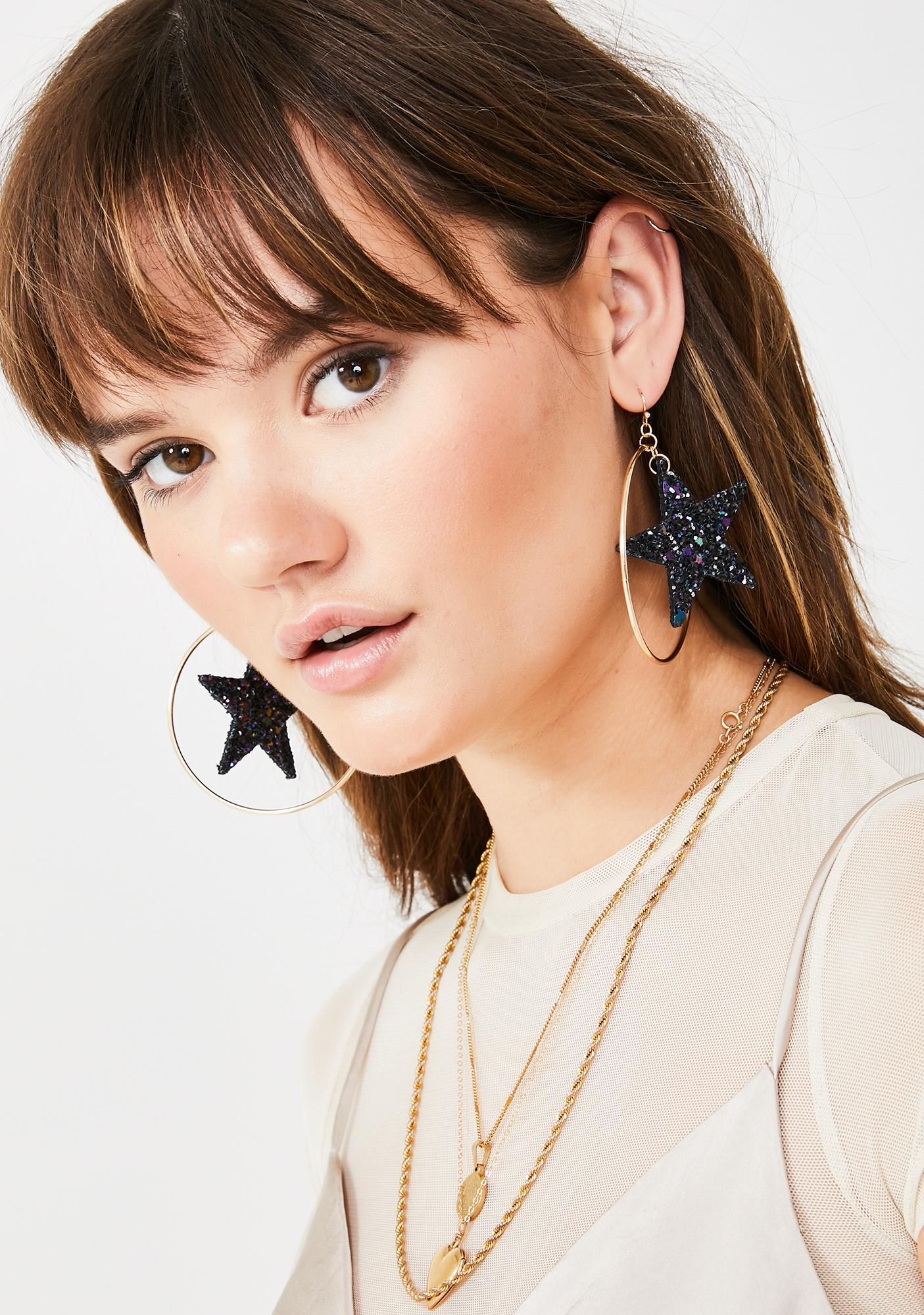 You're My Superstar Hoop Earrings