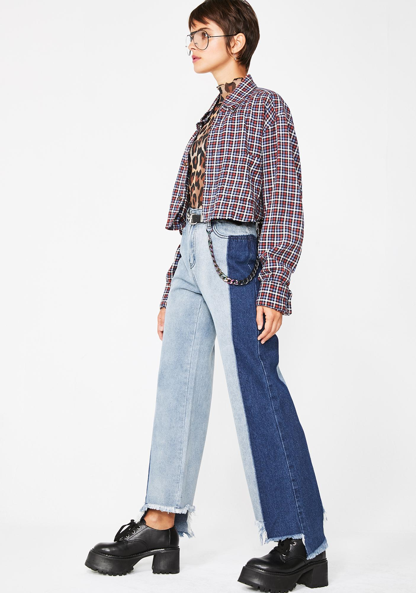 Make It Last Two Tone Jeans