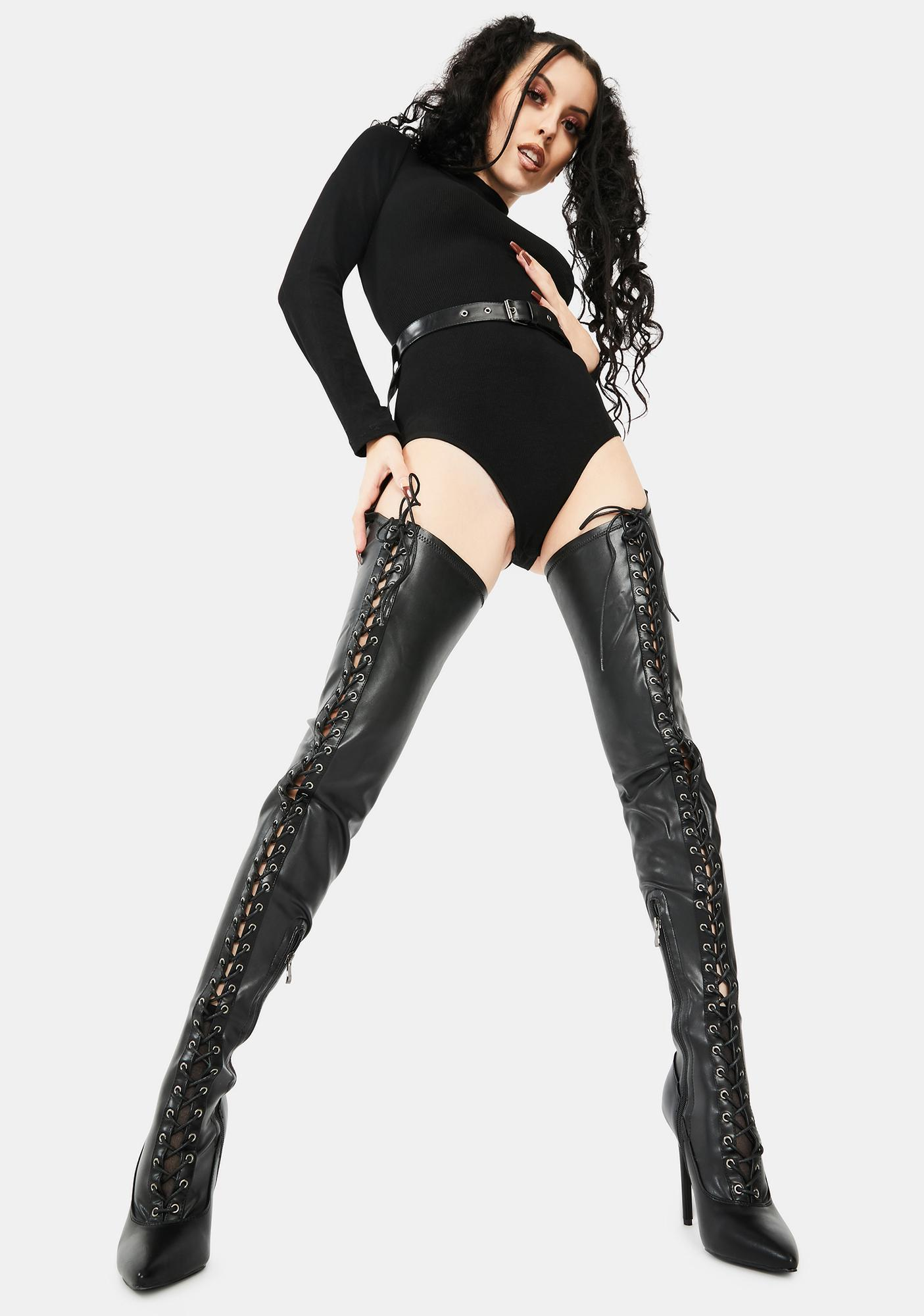 AZALEA WANG Shower You With My Attention Stiletto Boots