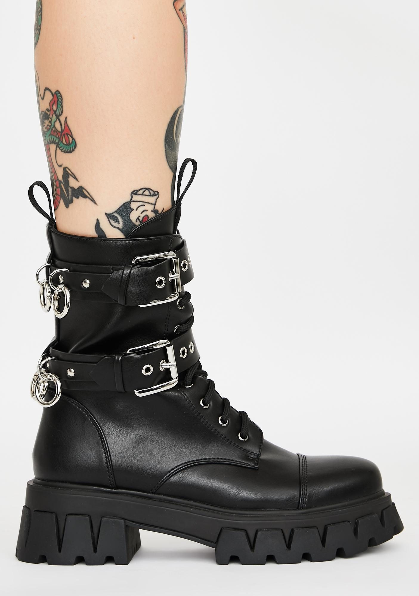 Koi Footwear Oedon O-Ring Combat Boots