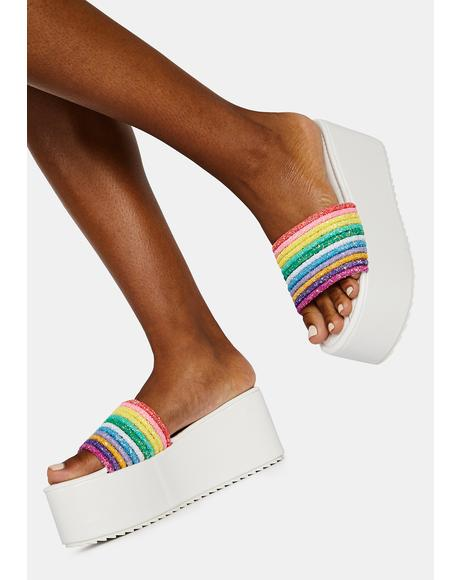 Bliss Sour Straws Rainbow Platform Slides