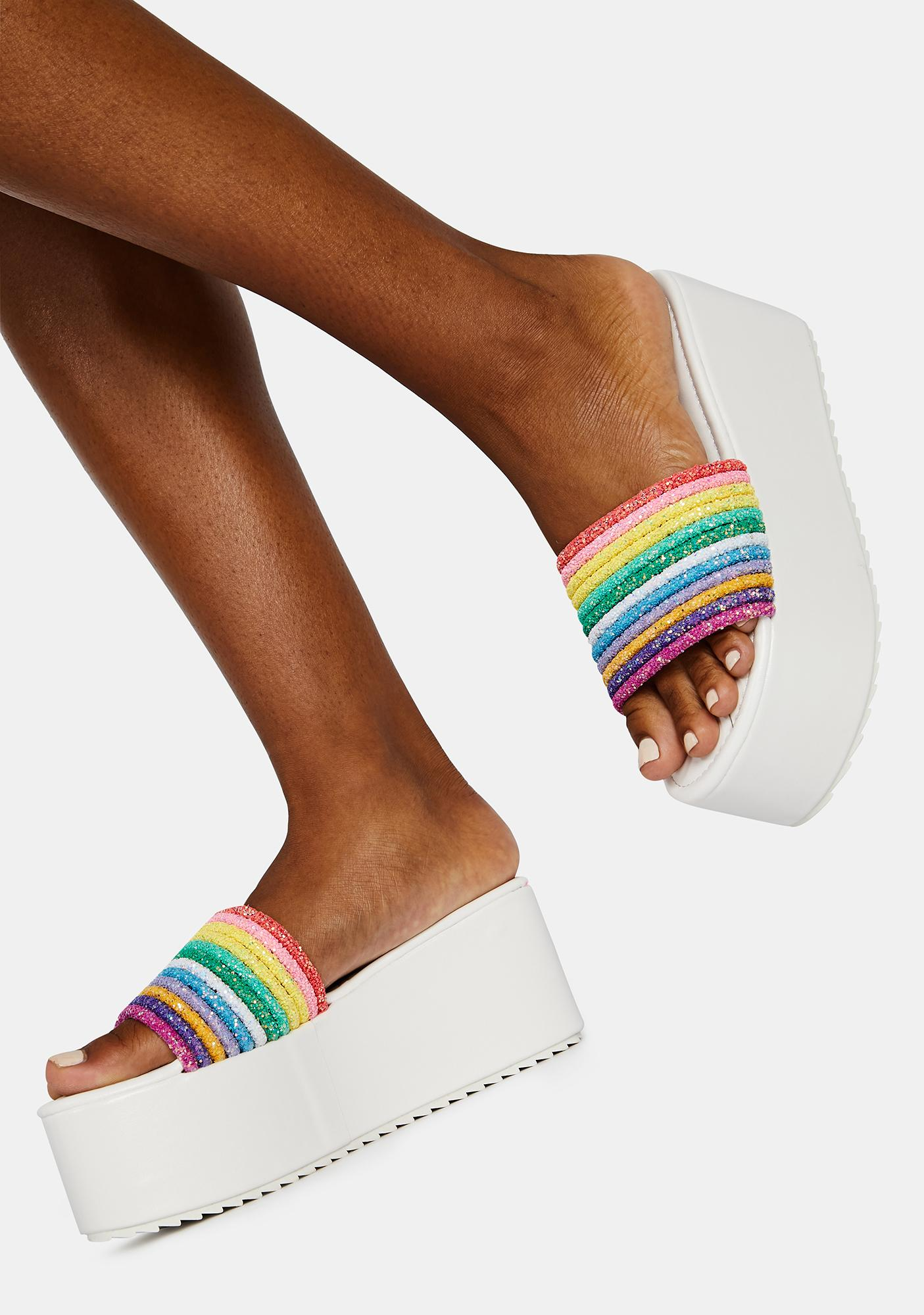 Bliss Sour Straws Rainbow Platform Slides