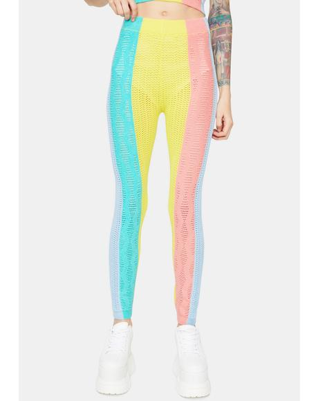 Rainbow Haze Colorblock Knit Leggings