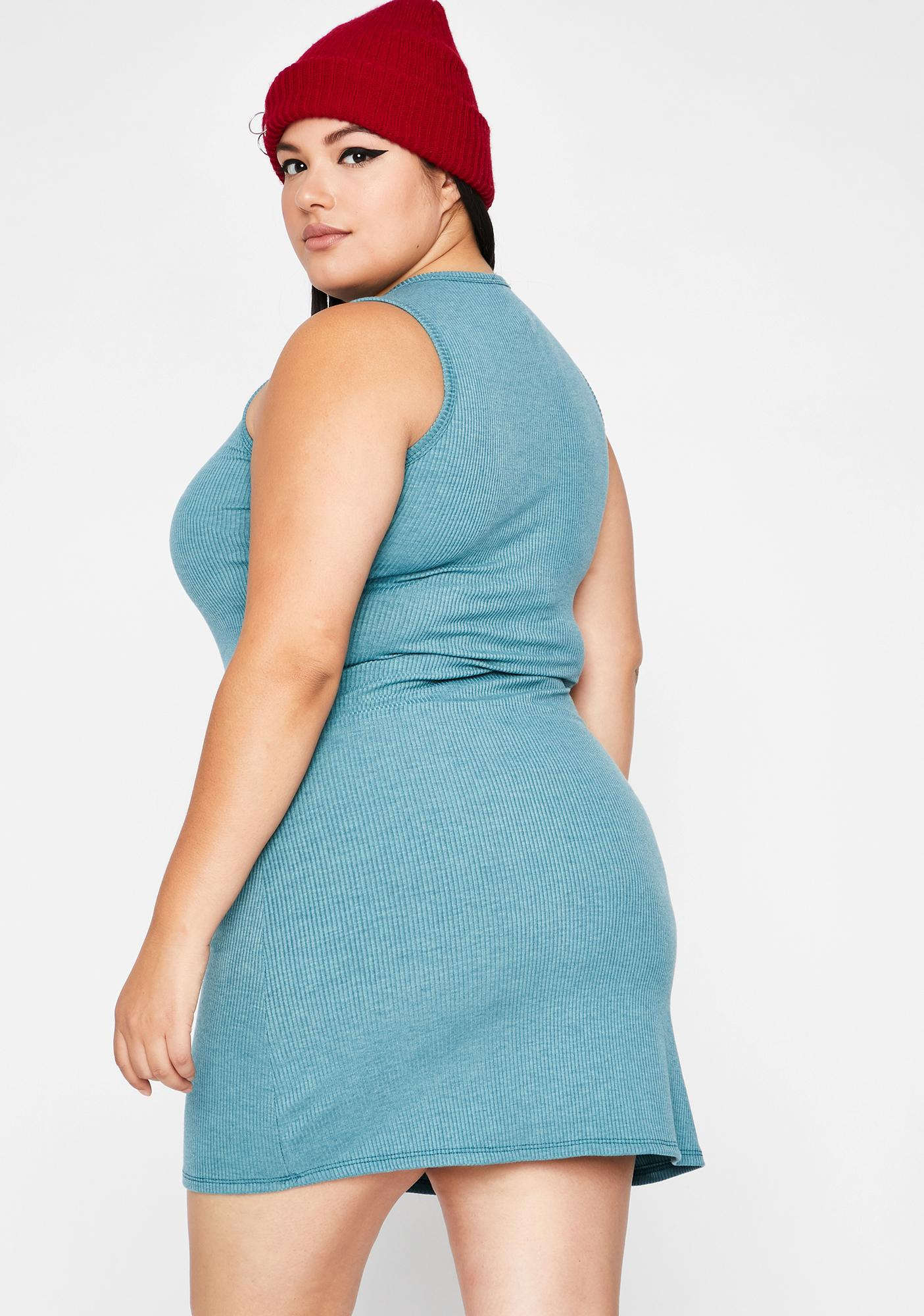 Aqua Cozy Couture Tank Dress