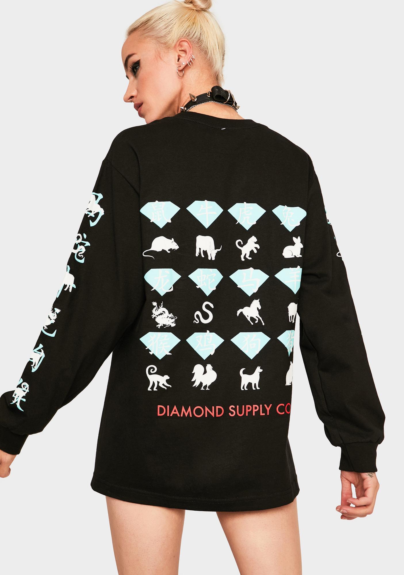 Diamond Supply Co Zodiac Long Sleeve Graphic Tee