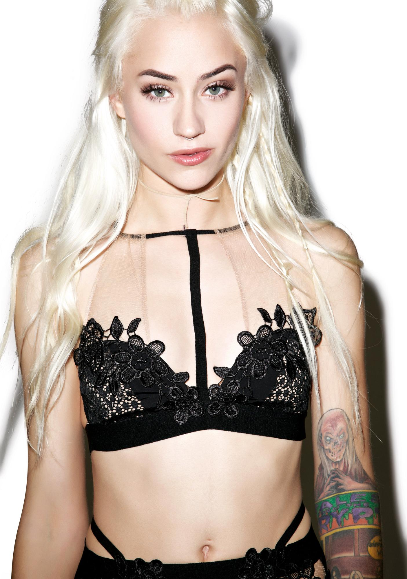 For Love & Lemons Lucia Halter Bralette