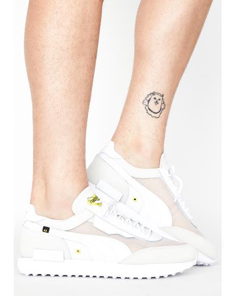 White Unisex Future Rider X CTM Sneakers