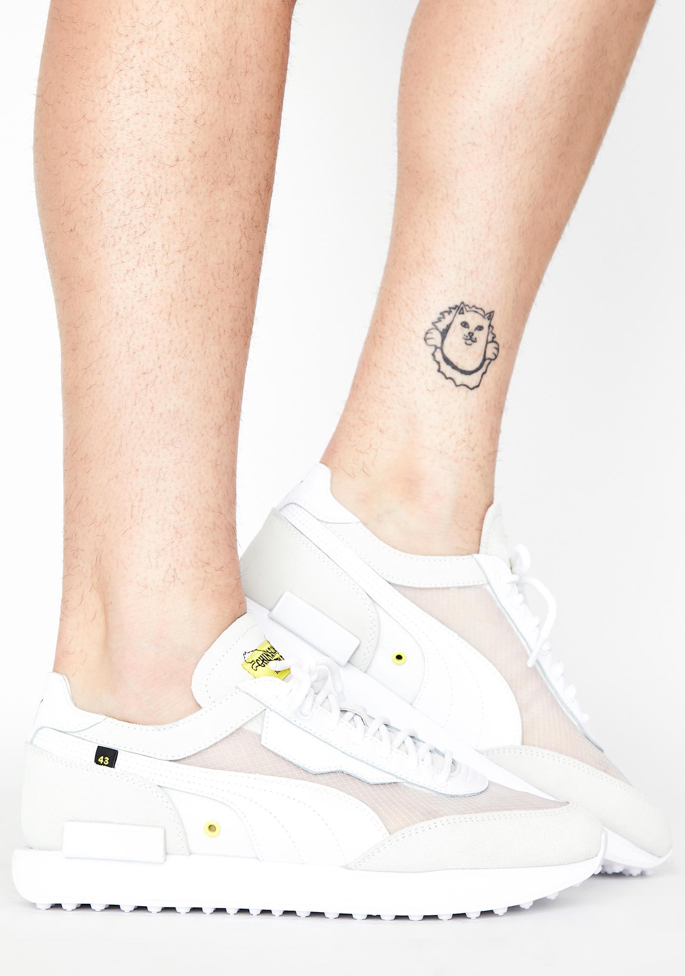 PUMA White Unisex Future Rider X CTM Sneakers