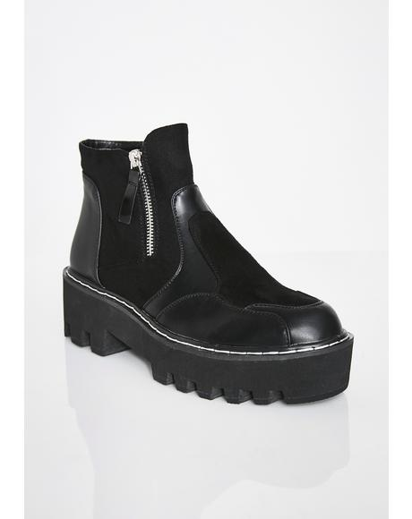 Design Chunky Ankle Boots