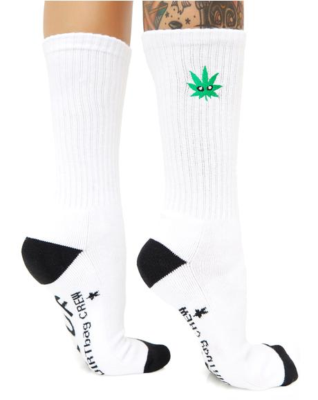 Cmon Leaf Plantlife Crew Sock