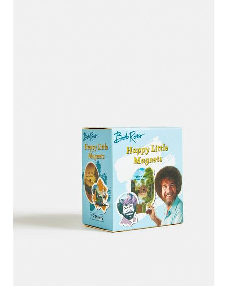 Bob Ross Happy Little Magnets