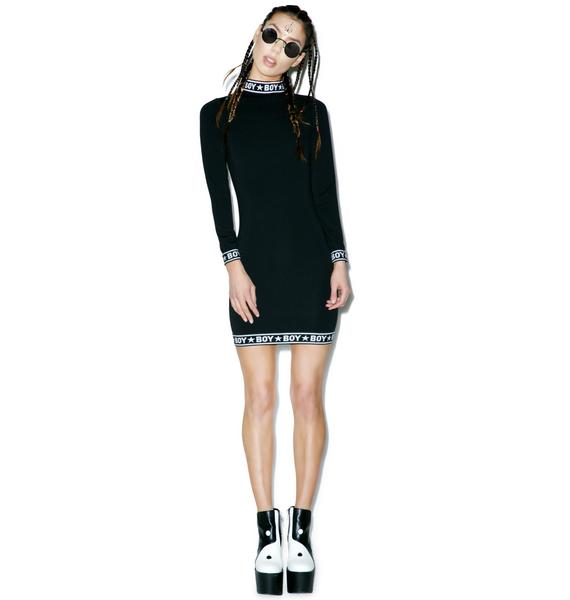 BOY London BOY Tape Long Sleeve Dress