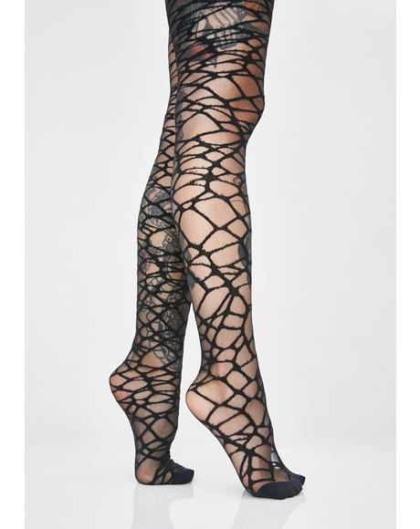 Broken Glass Sheer Tights