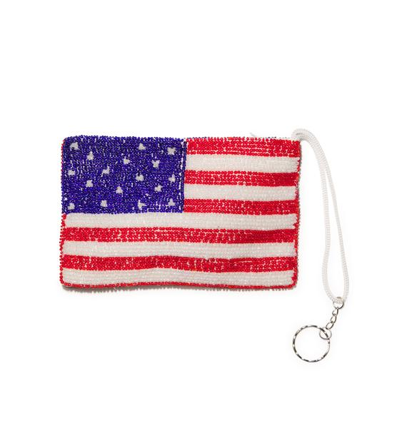 Merica Beaded Pouch