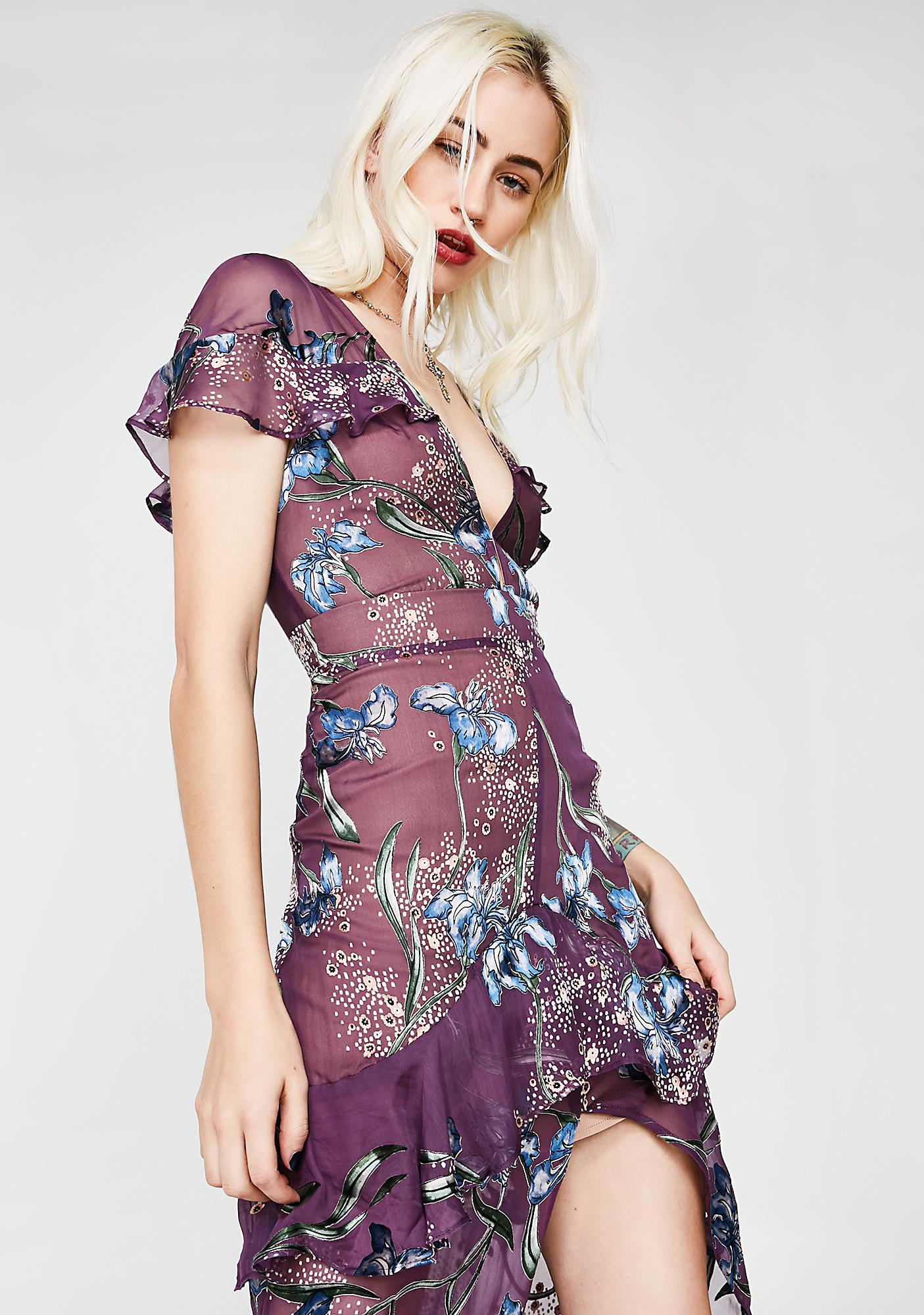 For Love & Lemons Cleo Floral Maxi Dress