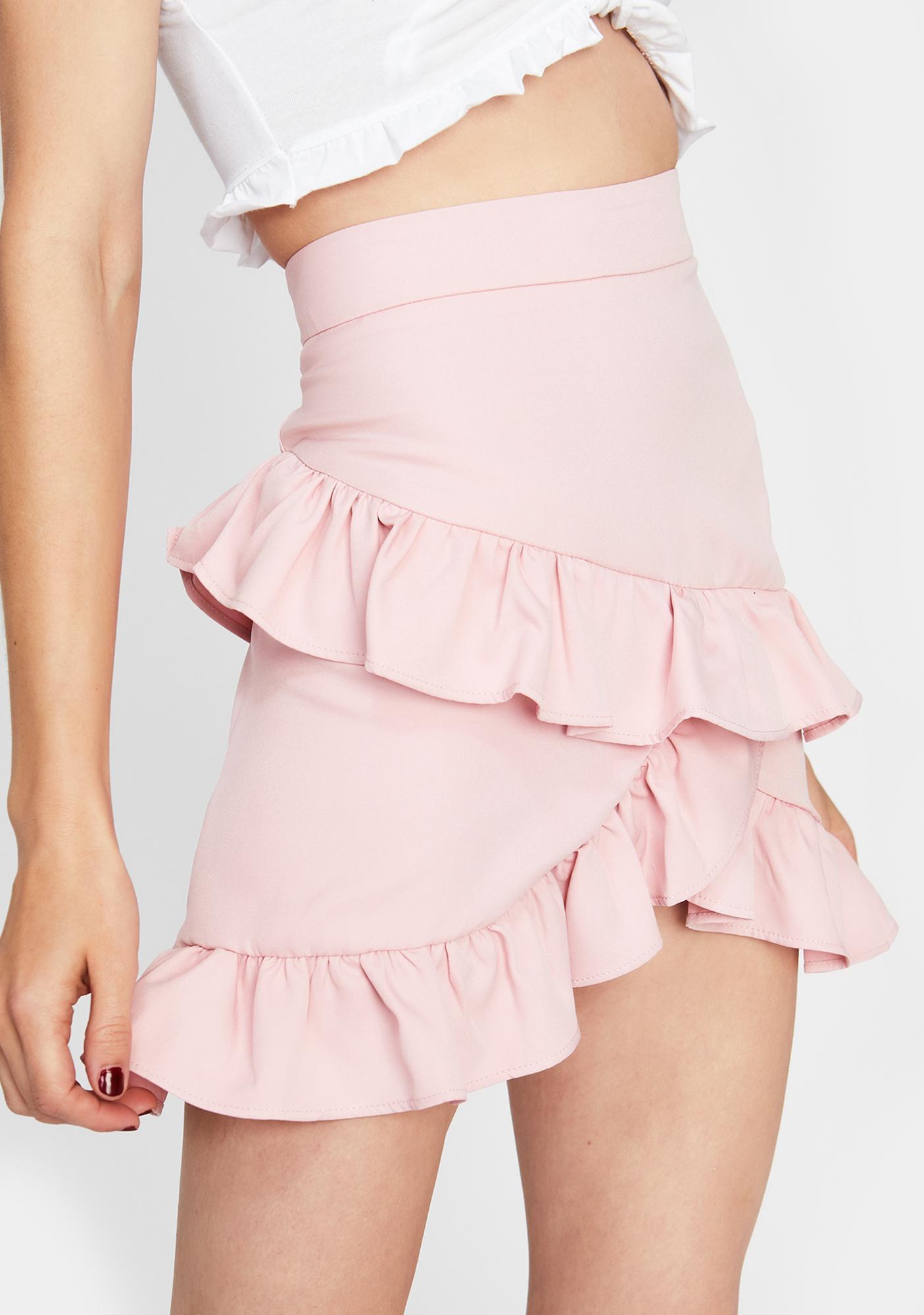Sweet Sinful Showdown Ruffle Skirt