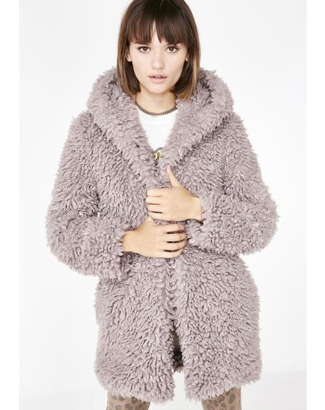 Shag Me BB Fuzzy Coat
