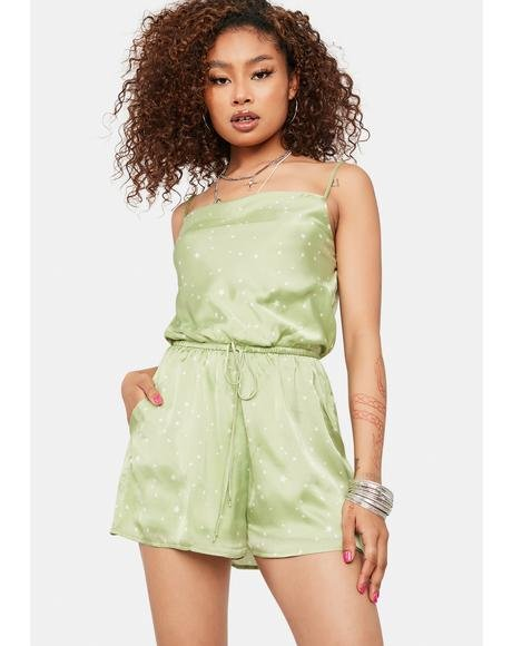 Stars For Wishing Satin Romper